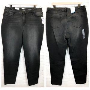 Style & Co Curvy Skinny Leg black smudge jeans 18